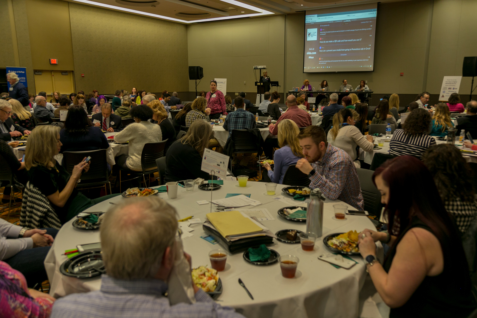 attendees at the keys to digital marketing success conference
