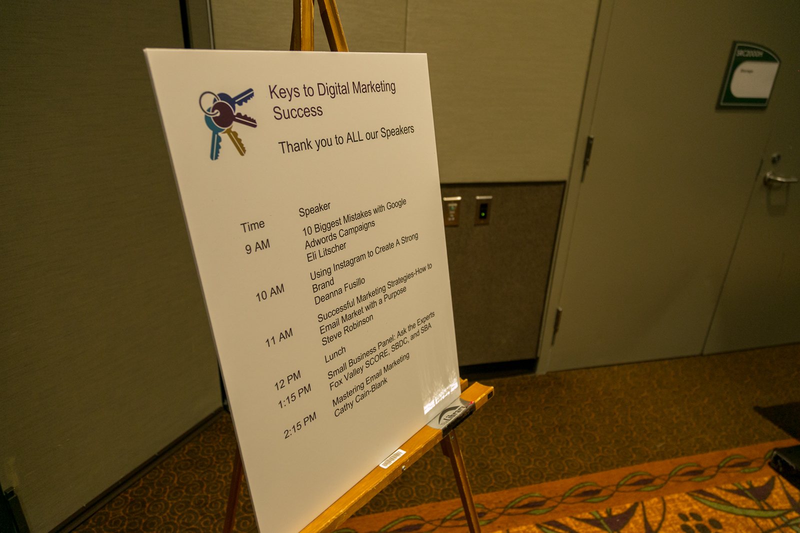 agenda of keys to digital marketing success conference