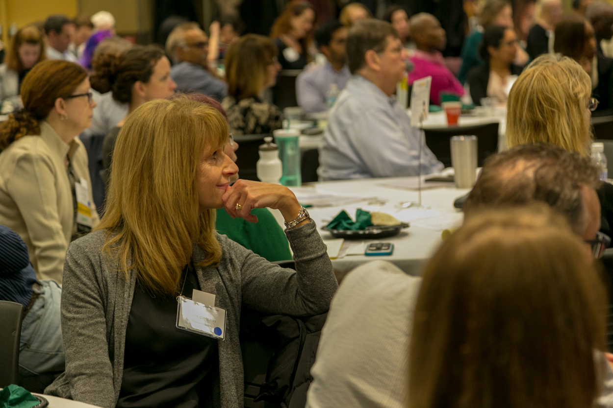 audience members at the keys to digital marketing conference in lisle, illinois